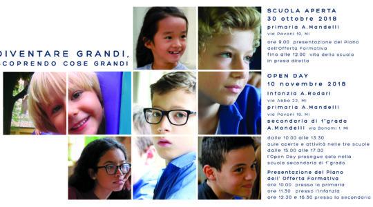 Diventare grandi scoprendo cose grandi-Scuola aperta e Open day