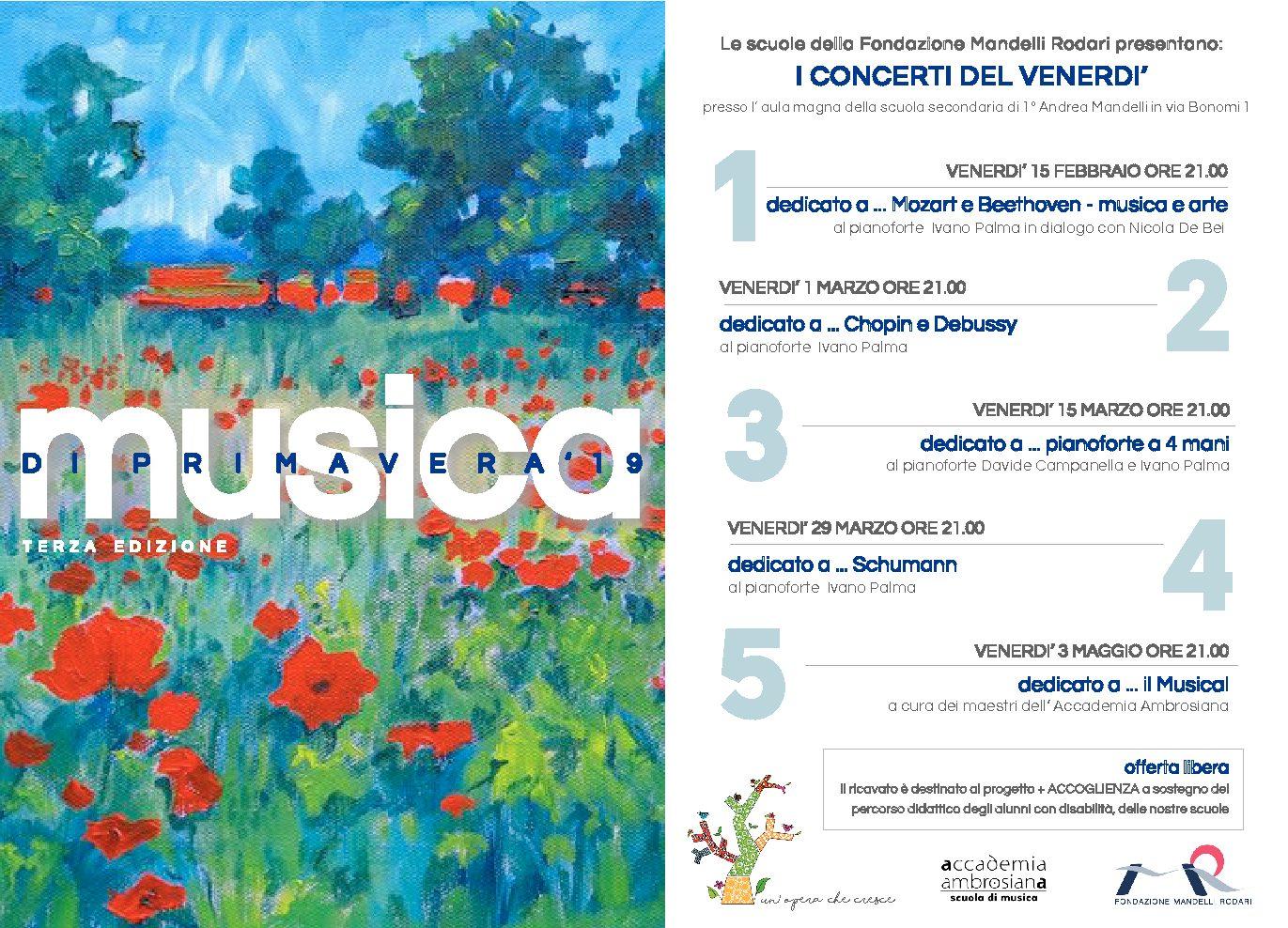 """Il maestro Ivano Palma presenta la terza edizione dell'evento """"Musica di primavera"""""""
