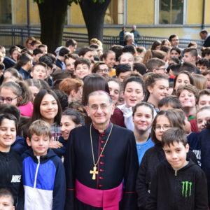 L'Arcivescovo  di Milano Monsignor  Mario Delpini  è venuto a trovarci.