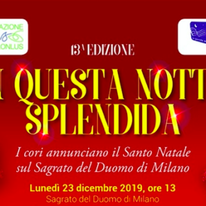 """""""In questa notte splendida"""": il coro della scuola Primaria annuncia il Santo Natale sul sagrato del Duomo di Milano"""