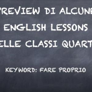 Scuola Primaria: Il percorso di inglese in quarta