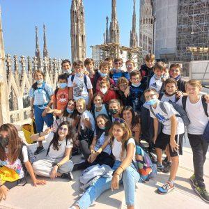 I ragazzi di seconda media finalmente in gita! La visita al Duomo di Milano